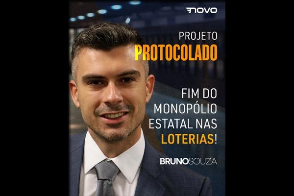 Deputado Bruno Souza propõe lei que acaba com o monopólio estatal das loterias em Santa Catarina