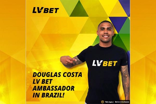 LV BET anuncia Douglas Costa como embaixador da marca para o Brasil