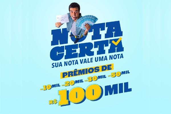 Programa 'Nota Certa' é retomado em Uberlândia (MG) e sorteios começam em março