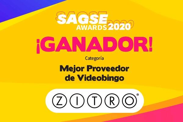 Zitro foi premiada pela SAGSE como 'Melhor Provedor de Vídeo-Bingo'