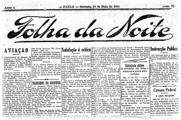 Coluna 'Há 100 anos' da Folha de S.Paulo registra cobrança de impostos nos cassinos em 1921