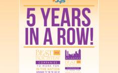 Pelo quinto ano consecutivo, a AGS conquista 'As Melhores e Mais Brilhantes' empresas para trabalhar em Atlanta 1