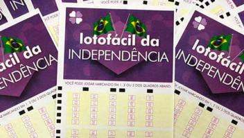 Começam nesta segunda-feira as vendas para a Lotofácil da Independência 2021