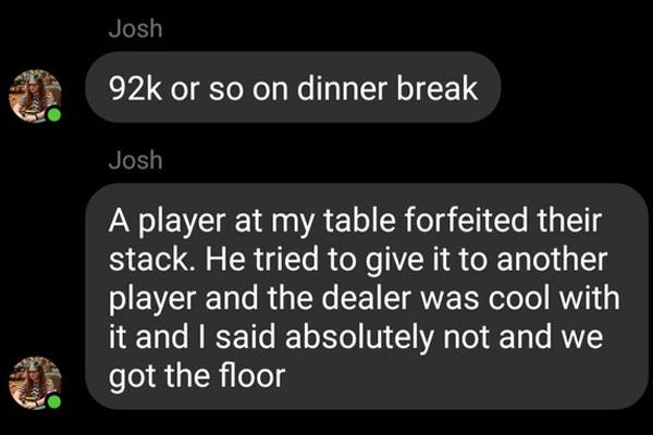 WSOP: Jogador desiste de stack, oferece para outro adversário e dealer não intervém; entenda a polêmica